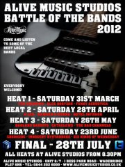 BATTLE OF THE BANDS 2012 // FINAL HEAT @ ALIVE MUSIC STUDIOS, WADBRIDGE
