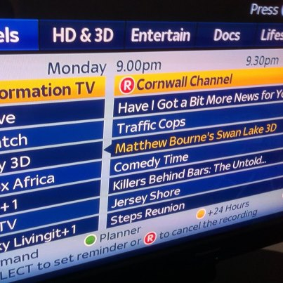 Catch Alive Music on the Cornwall Channel sky 212