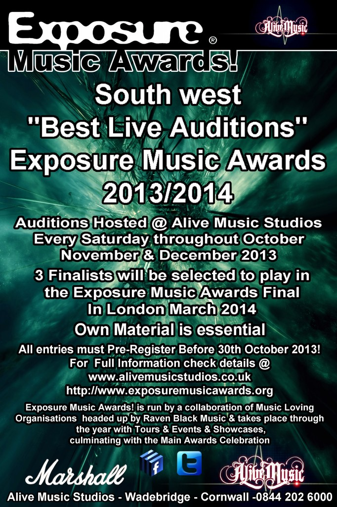 "Exposure Music Awards 2013/14 ""REGISTER NOW"""